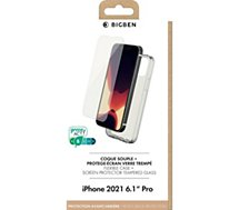 Pack Bigben Connected  iPhone 13 Pro Coque + Verre trempe