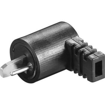 Conecticplus Connecteur DIN 2 broches HP coudé mâle a