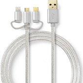 Câble trio Conecticplus Câble 3 en 1 Lightning USB type C et M