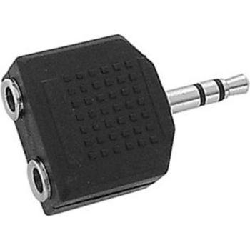 Conecticplus Adaptateur Jack 3.5 mâle-2 Jack 3.5