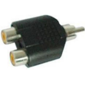 Conecticplus Adaptateur RCA mâle 2 RCA femelles