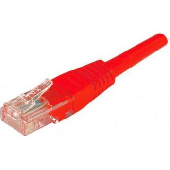 Conecticplus Câble RJ45 1m UTP CAT 5e rouge