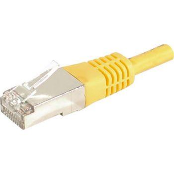 Conecticplus Câble ethernet Cat 6a 25m FTP jaune