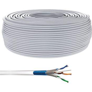 Conecticplus Bobine de câble RJ45 Cat 6 multibrins S/