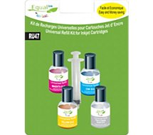 Recharge universelle Equal'ink  4 Recharges universelles couleur+solvant