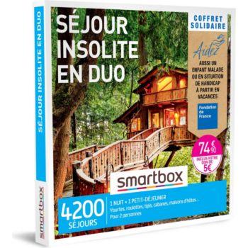 Smartbox Coffret Solidaire Séjour insolite en duo