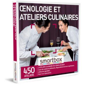 Smartbox Oenologie et ateliers culinaires