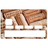 Sticker carte bleue  Bouchons de vin
