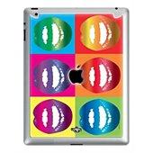 Sticker iPad 2/3/4 Lips Warhol