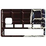 Sticker carte bleue  Chocolat