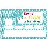 Sticker carte bleue  Donne du crédit à tes rêve