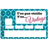 Sticker carte bleue Vintage