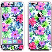Sticker iPhone 6/6S Fleurs fluo