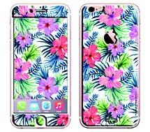 Sticker  iPhone 6/6S Fleurs fluo