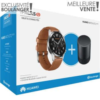 Huawei Pack Watch GT 2 Marron 46mm+CM510B