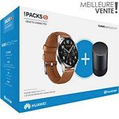 Montre connectée Huawei Pack Watch GT 2 Marron 46mm+CM510B