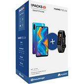 Smartphone Huawei Pack P30 Lite Bleu 128 Go + Band 4 Noir