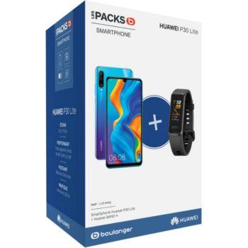 Huawei Pack P30 Lite Bleu 128 Go + Band 4 Noir