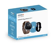 Montre connectée Honor  Pack MagicWatch 2 Marron 46mm+Band 5