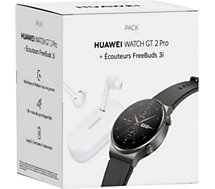 Montre connectée Huawei  Pack Watch GT 2 Pro Classique+Freebuds