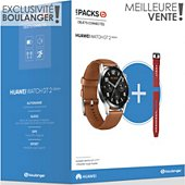 Montre connectée Huawei Pack Watch GT 2 Marron 46mm+Bracelet