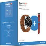 Montre connectée Huawei  Pack Watch GT 2 Marron 46mm+Bracelet