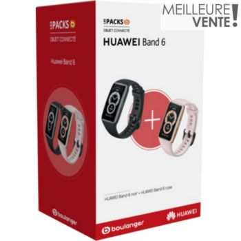 Huawei Pack Band 6 Noir + Band 6 Rose