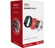 Bracelet connecté Huawei  Pack Band 6 Noir + Band 6 Rose