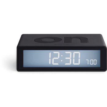 Lexon Flip+ Travel Clock Gris Foncé