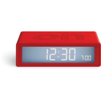 Lexon Flip+ Travel Clock Rouge