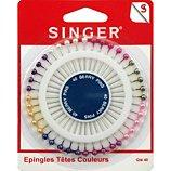 Epingle Singer Epingles têtes perles - 38 mm x 0.62 mm