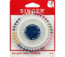Epingle Singer  Epingles têtes perles - 38 mm x 0.62 mm