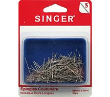 Epingle Singer  Epingles couture nickelées extra longues