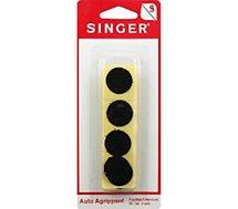 Accessoire couture Singer  Pastilles adhésives noires 20mm