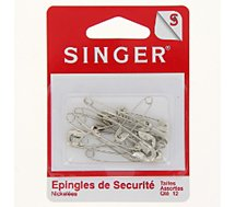 Epingle Singer  Epingles de sécurité nickelées assorties