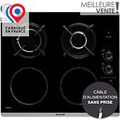 Table mixte induction gaz Brandt BPI6413BM