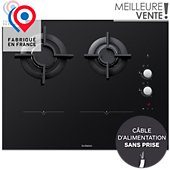 Table mixte induction gaz De Dietrich DPI7602BM