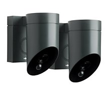 Accessoire pour alarme Somfy Protect  Pack x2 Outdoor Camera grise