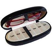 Etui lunette et pilulier Hestec Etui pour lunettes et pilulier