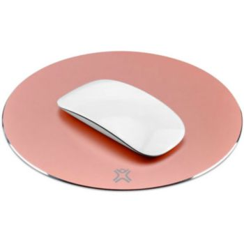 Xtrememac Round aluminum mouse pads Silver
