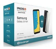 Smartphone Samsung Pack J6 + Protège écran + Coque