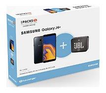 Smartphone Samsung Pack J4+ Noir + Enceinte JBL Go 2