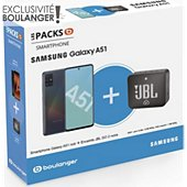 Smartphone Samsung Pack A51 Noir + Enceinte JBL GO 2