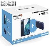 Smartphone Samsung Pack S20 FE Bleu + Enceinte AKG S30