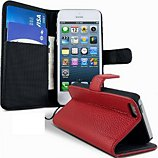Etui Lapinette Portefeuille Apple Iphone 5 5s Rouge