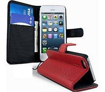 Etui Lapinette Portefeuille Apple Iphone 5 5s Rouge