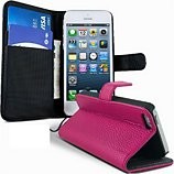 Etui Lapinette Portefeuille Apple Iphone 5c Rose