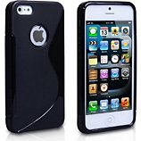 Coque Lapinette Gel Vague S Apple Iphone 5c Noir