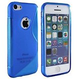 Coque Lapinette Gel Vague S Apple Iphone 5c Bleu