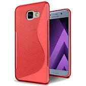 Coque Lapinette Gel Vague S Samsung Galaxy A3 2017 Rouge